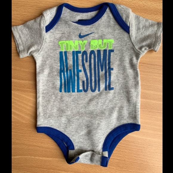 """Nike Other - Nike """"Tiny but Awesome"""" Onesie"""